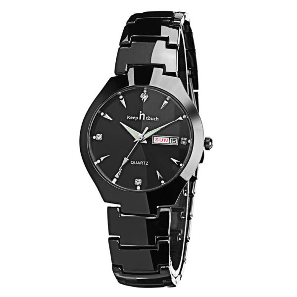 Casual Style Couple Wrist Watch Gift Stainless Steel Strap Quartz Movement Watches