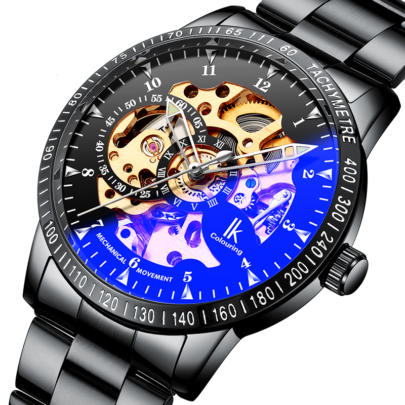 431b5cb87b5 IK COLOURING 98226G Skeleton Dial Automatic Mechanical Watches ...