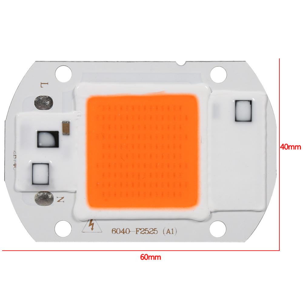 220/110V High-Pressure LED Cob Grow Light Clip 20W/30W/50W Growth Lamp for Indoor Garden Greenhouse Hydroponic Planting