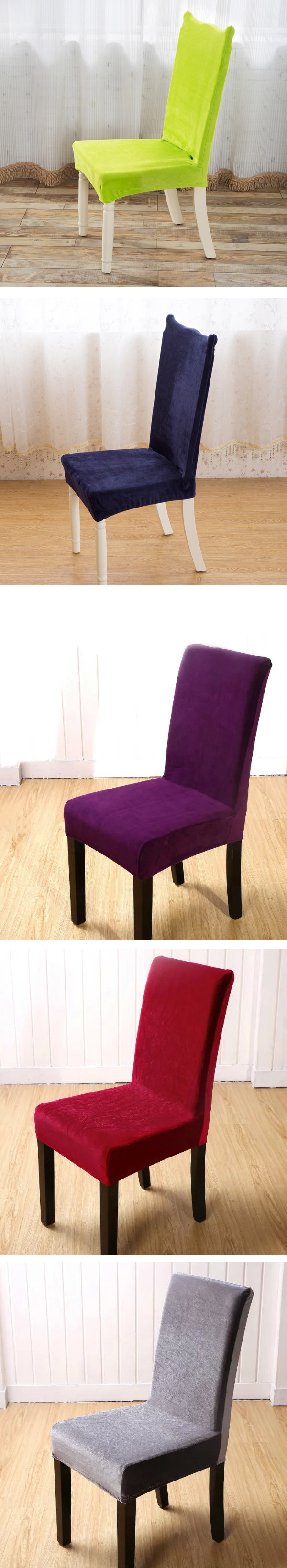 Plush Thicken Antifouling Elastic Stretch Spandex Chair Seat Cover Party Dining Room Wedding Decor
