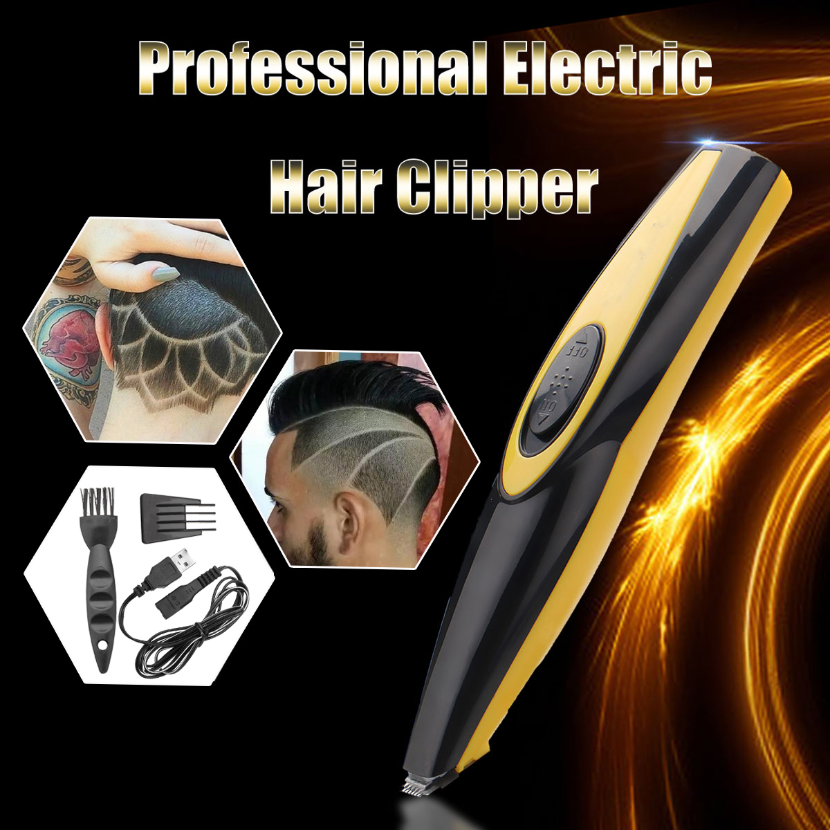 Mini Electric Hair Clipper Rechargeable USB Plug Dual Charging Cutting Tool 220V 50Hz