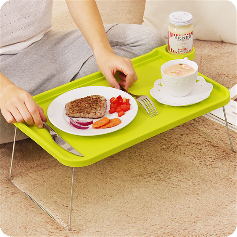 Foldable Plastic Notebook Desk Laptop Table Desk Stand Small Desk for Bed Office Furniture