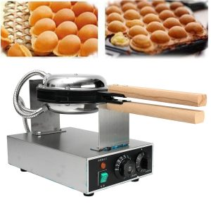 Great Stainless Steel Electric Egg Cake Oven QQ Egg Waffle Maker Machine 220V 1500W