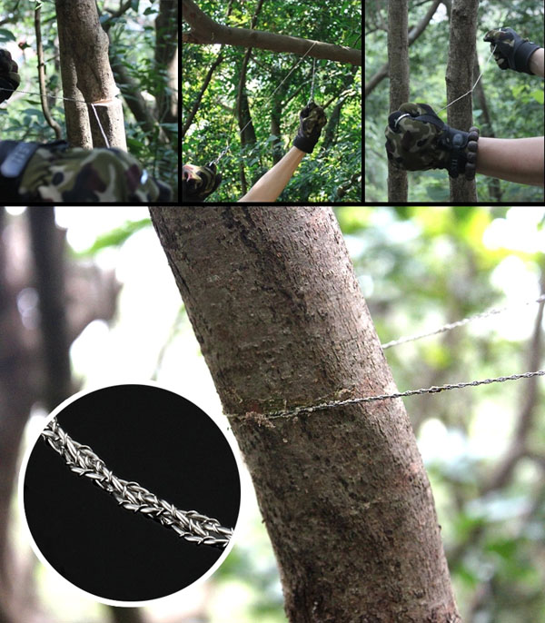 Garden Hand Steel Trimming Saw Outdoor Portable Survival Chain Saw