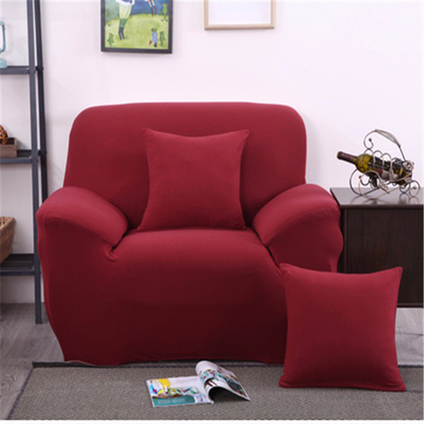 One Seater Solid Colors Textile Spandex Strench Elastic Sofa Couch Cover Furniture Protector