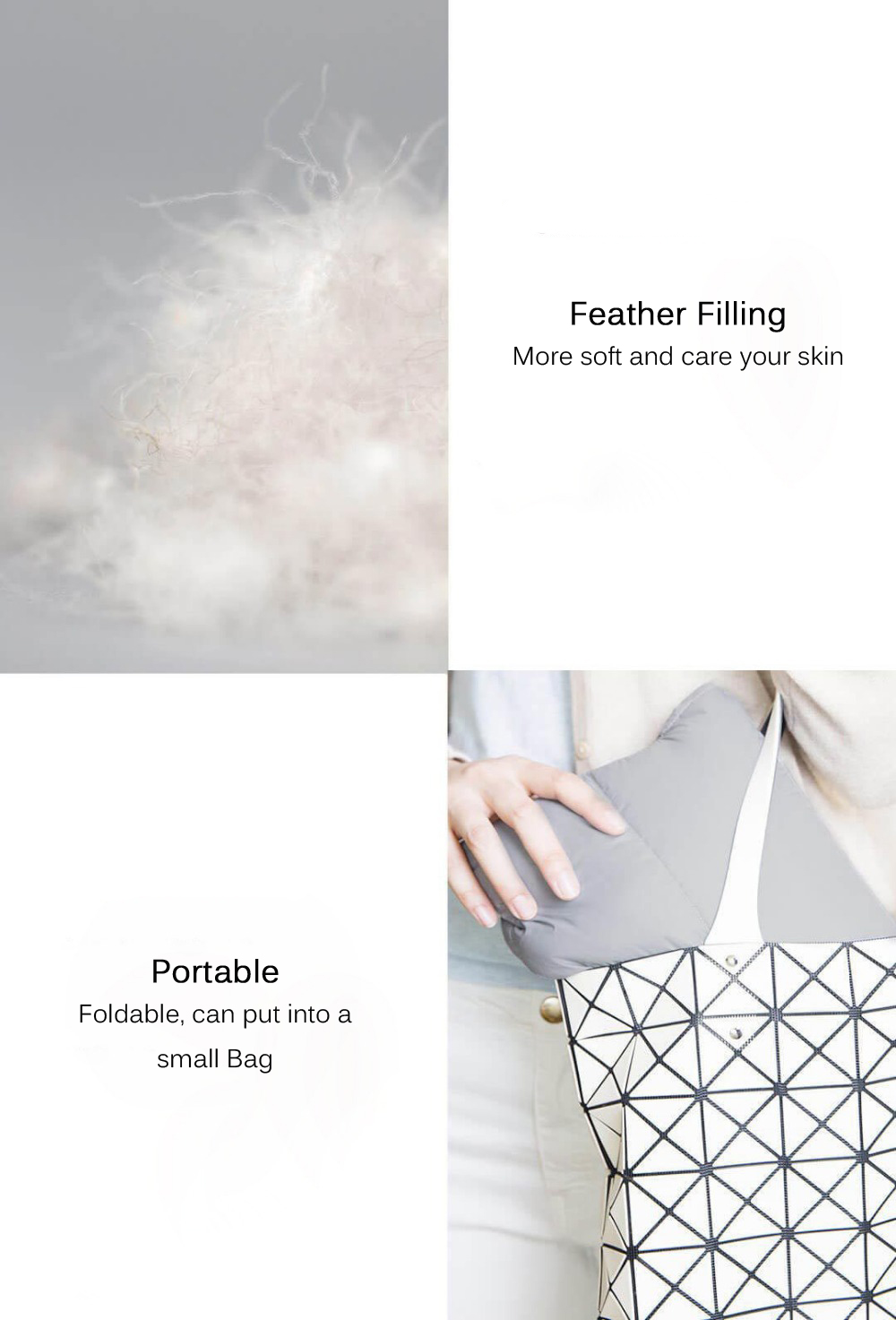 Xiaomi Feather Filling Nap Blankets Portable Super Light Soft Multifunctional Blanket Wearing Covering for Travel Home Office