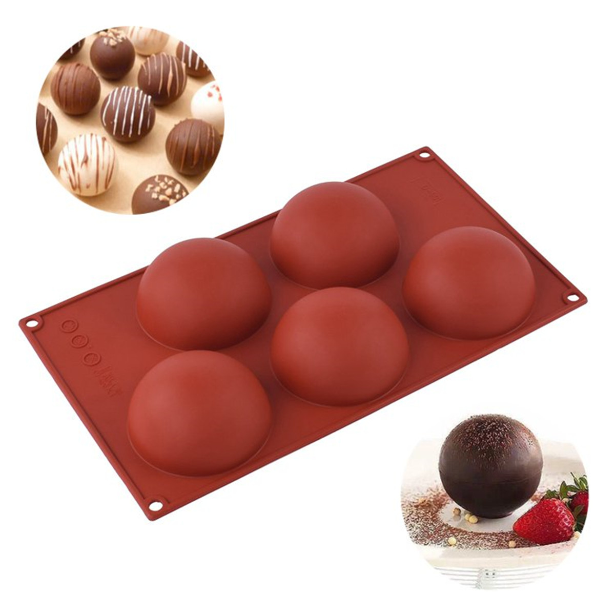 5 Cavity Silicone Bread Cake Chocolate Fondant Mold Mousse Pastry Baking Tools