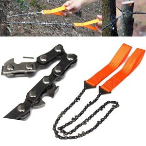 Gardening Hand Chain Saw Orange Handle 65 Manganese Steel Hand Felling Saw Outdoor Portable Saw