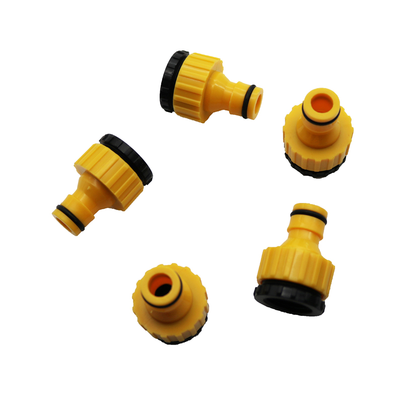 Standard Faucet Hose Connector Quick Connector Washing Machine Water Cannons And A Garden Lawn