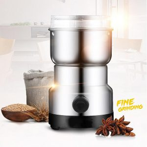 220V Electric Stainless Steel Home Grinding Milling Machine Coffee Bean Grinder Kitchen Tool