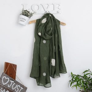 Women Unique Chiffon Printting Scarves Fashion Summer Outdoor Wave Point Shawl Scarf