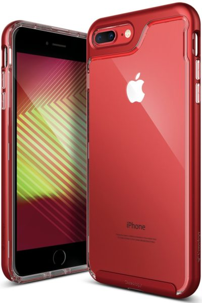 pretty nice dfd7b f324f Apple iPhone 8 Plus (2017)/iPhone 7 Plus (2016) - Red Caseology Skyfall  Series iPhone 8 Plus/7 Plus Cover Case with Clear Slim Protective for - ...