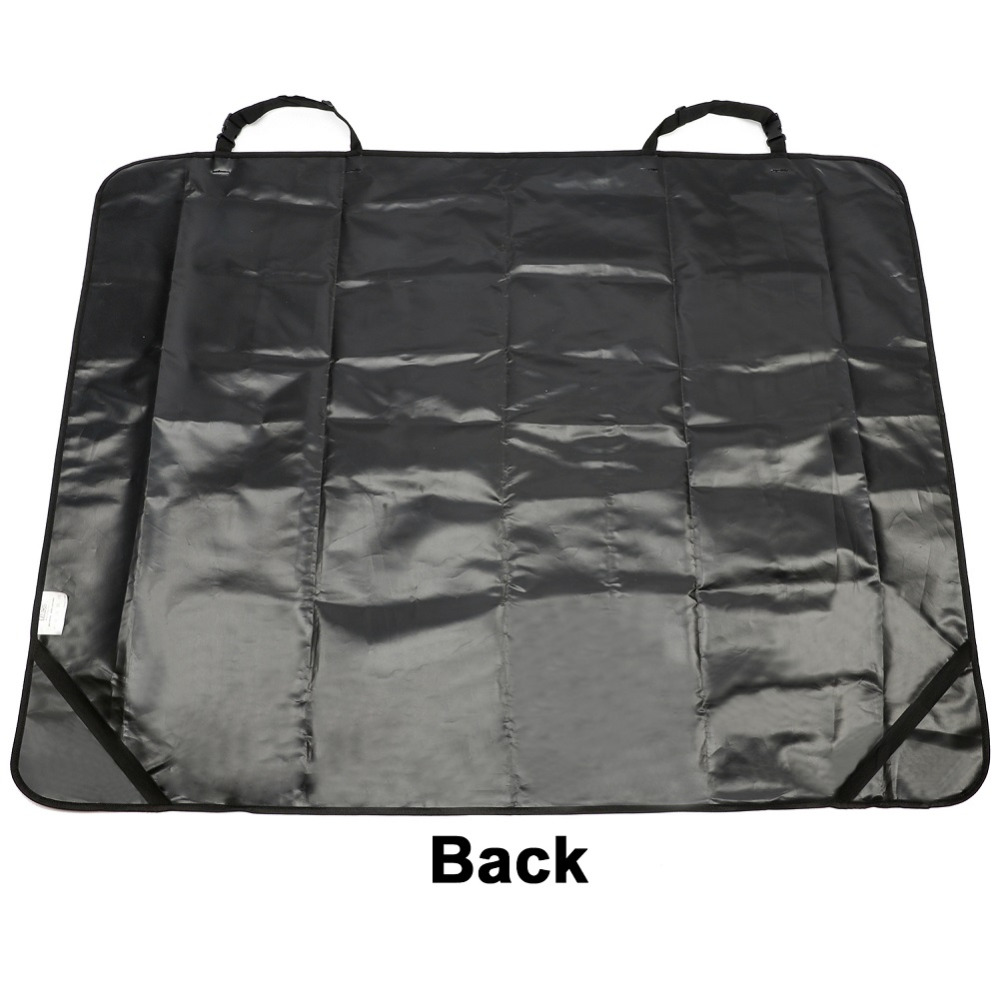 Car Back Waterproof Seat Covers Pet for Cat Dog Protector Mat Rear Safety Travel Black Pet Mat