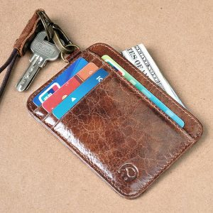Vintage Genuine Leather Card Holder Wallet Purse For Men