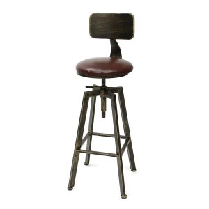 Counter height swivel bar stools Vintage Retro Craft PU Leather 360 Degree Rotate Counter