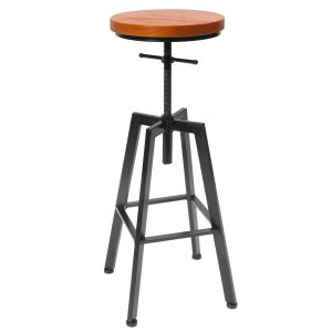 24 inch bar stools with back Adjustable Bar Chairs Wood Iron Counter Stool Retro Industrial Rotating Lift Bar Decorations