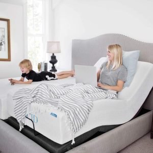 LUCID L300 Adjustable Bed Base-5 Minute Assembly-Dual USB Charging Stations Head and Adjustable beds with Headboards