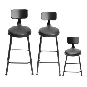 Bar stools for kitchen Islands industrial Rustic Retro Metal Bar Stool Leather Back Counter Chair Decorations