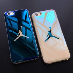 Fashion i6 6s case Blu-ray laser Ultra Thin NBA 23 Michael Jordan TPU Soft Case For iphone 6 6s Plus 7 7plus Case Back Cover