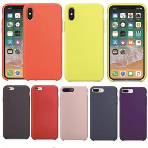 Have Logo Mobile Phone Case For Iphone 7 8 X 6 6s Plus Liquid Silicone Cases Bag Cover Cases Pure Anti-Pollution Prevent Dirty