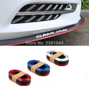 Samurai 2.5M Rubber Lip Skirt Protector Car Scratch Resistant Rubber Bumpers Car Front Lip Bumpers Decorate