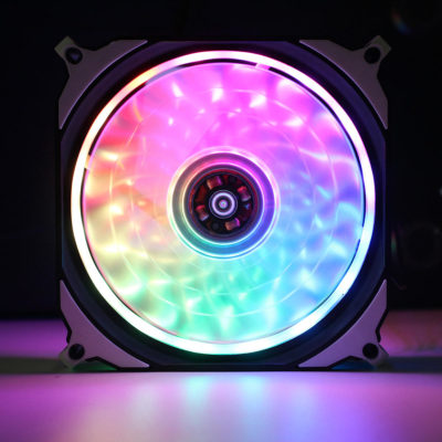 DC 12V RGB LED 366 Modes Quiet Computer Case PC Cooling Fan 120mm Air Cooling Fan