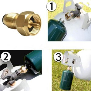 1 lb Propane Tank Refill Adapter Gold Color Gas 1 Lb Cylinder Tank Coupler Heater 100% Brass