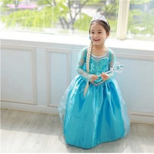 4-10y Baby Girl Elsa Dress for Girls Clothing Wear Cosplay Elsa Costume Halloween Christmas Party Princess Teens Fancy Vestidos