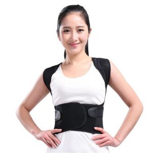 Adjustable Back Support Therapy Posture Brace Belt Shoulder Lumbar Support Straight Corrector