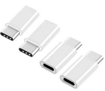 4 PCS USB Type-C To Micro USB Data Charging Adapters Converters - WHITE 274709502