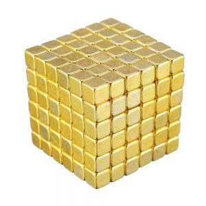 216PCs 5mm Magic Golden Strong Square Buck Ball Creative Magnet Imanes Fun Magnetic Toys