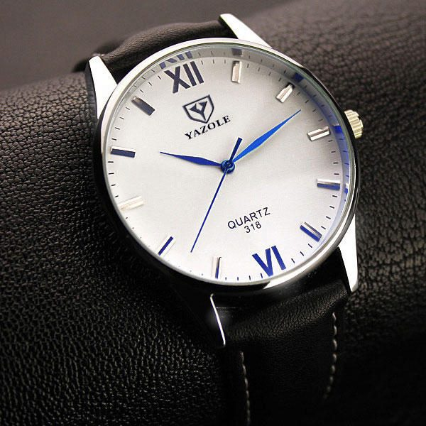 YAZOLE 318 Men Watch Luminous Display Casual Style Clock Quartz Watches