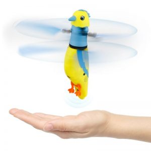 CX-51 Hand Induction Infrared Flying Parrot Toys Singing Bird with LED Lights for Kid