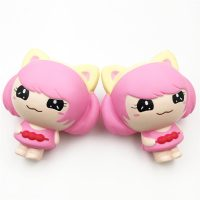 SquishyFun Pink Little Girl Squishy Hanging Decoration 12CM Cute Doll Gift Collection Packaging