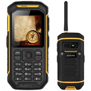 JEASUNG X6 IP68 2.4 Inch 2500mAh UHF Walkie Talkie Torch Bluetooth Dual SIM Waterproof Feature Phone