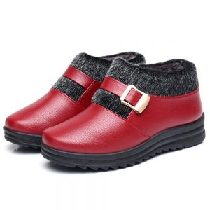Womens Snow Boots Keep Warm Winter Casual Boots - 6 Red