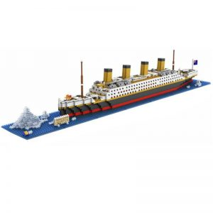 LOZ Diamond Block Boat 56cm 1680pcs Bricks Building Blocks #9389 RMS Titanic Steam Ship Model Toy