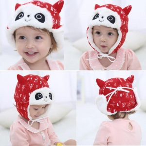 Lovely Baby Animal Panda Fleece Hats Kids Winter Warm Earflap Caps Beanie Cute Infant Boy Girl Thicken Bomber Hats