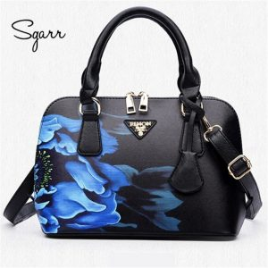 SGARR women black leather bags women's handbags crossbody newest