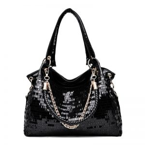 Quilted 2018 women shoulder black leather bags women's handbags