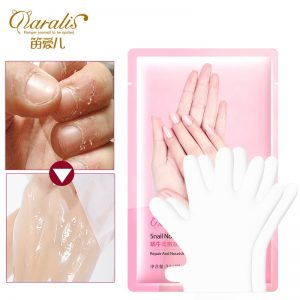 1pair Snail Serum Extract Moisturizing Hand Mask Smoothing Whitening Moisturizing Hand Mask Gloves Anti-Aging SPA Hand Gloves