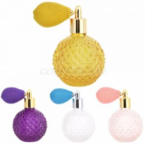 Women Vintage Perfume Bottle Short Spray Atomizer Refillable Empty Glass100ml