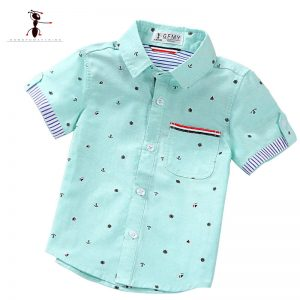 Kung Fu Ant Brand Original Spring Summer Fashion print Boy's Shirts Casual Camisa Masculina Blouses for Children Kids Clothes