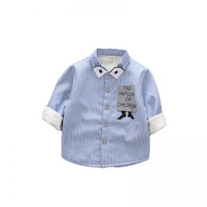 2018 Korean Kids Warm Fleece Casual Boys Shirts For Children Clothes 1-5Y Winter Thick Long Sleeve Cotton Striped Baby Boy Shirt