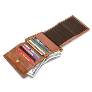 Men Genuine Leather Casual Vintage Multi-Functional Hasp Wallet