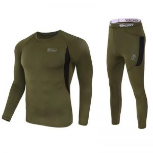 Outdoor Tactical Sports Esdy Thermal Underwear Lovers Suit Round Collar Thermal Wear