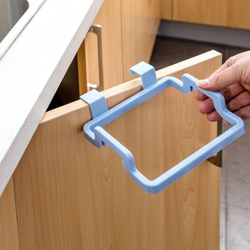 New Eco-friendly Kitchen Door Back Hanging Style Cabinet Stand Trash  Garbage Bags Support Holder - VolgoPoint