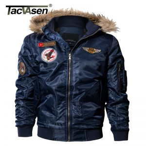 TACVASEN Men Bomber Jacket Winter Parkas Army Military Motorcycle Jacket Men's Pilot Jacket Coat Cargo Outerwear TD-QZQQ-013