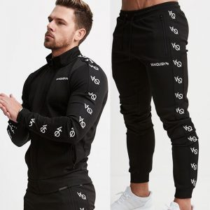 Mens Running Sportswear Sweatshirt/Sweatpants Trousers Gym Fitness Training Jackets Pants 2pcs/Sets Male Joggers Sports Clothing