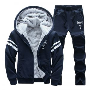 Men's Winter Thick Warm Sports Running Suit Youth Hooded Sweater Sports Men's Clothing Training Suit Men Workout Running Clothes